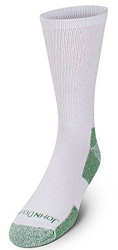 Men's John Deere 4 Pack Socks (White) - LP68847