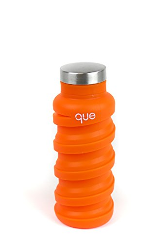 que Bottle - Fashionable & Collapsible 12oz Water Bottle (Sunbeam Orange)