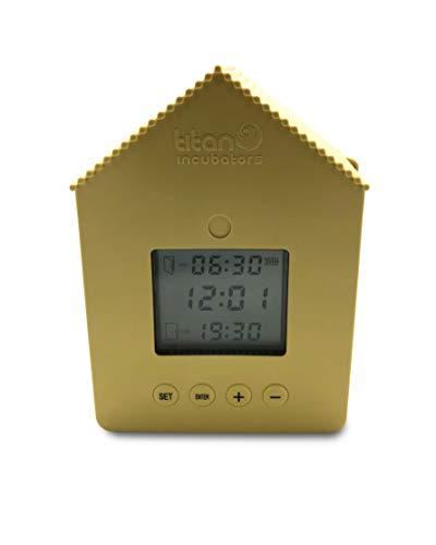 Titan Incubators Elite Timer Automatic Chicken Coop/House Door Opener/Closer Upto 2.2lb Door Lift Capacity