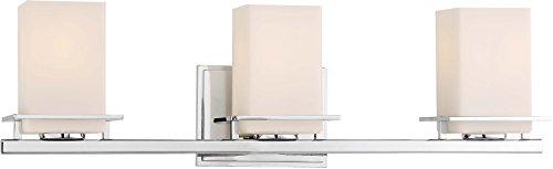 Minka Lavery Wall Light Fixtures 3003-77 Tournee Bath Vanity Lighting, 3-Light 300 Watts, Chrome