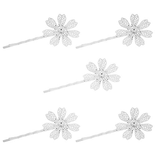 (5x Vintage Hair Jewelry Mental Hair Clips Floral Leaves Shaped Hairpins K)