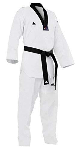(adidas Taekwondo Dobok, Black-V, WTF Approved (2/160cm))