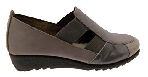 70101 Sandale Chaussure Article Taupe Élastique Riposella Gris À Col PBwqZ8