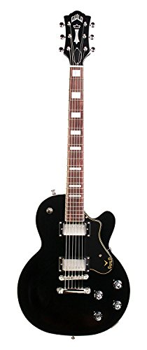 Guild Guitars Bluesbird (Black) Solid Body Electric Guitar with Gig Bag (Black)