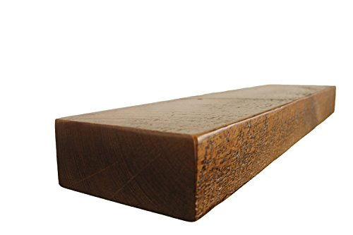 30'' W X 7'' D X 3'' H, Rustic Floating Wood Mantel, Shelf, Antique, Wooden, Shelves, Industrial by Joel's Antiques & Reclaimed Decor (Image #7)