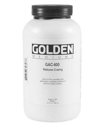 Golden Acryl Med 32 Oz Gac-800 Acrylic White