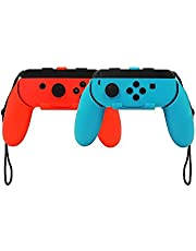 Nintendo Switch Joy-Con Grip, niceEshop(TM) Pack of 2 Wear Resistant Joy-con Handle for Nintendo Switch, Blue and Red