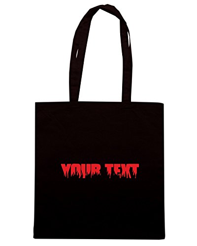 T-Shirtshock - Bolsa para la compra FUN1122 custom fire and flames font text t shirt Negro