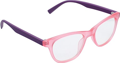 True Gear iShield Anti Reflective Computer Glasses Block Blue Light and Harmfull UV with Clear Lens for Kids and Teens - Retro - Purple and Pink with 2 in 1 Stylus Pen