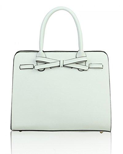 CREAM Tote LeahWard TOTE WHITE Holiday Bow Grab Women's Casual Bag Cute Shoulder 051 For Handbags Bags 6wwqRrtxC