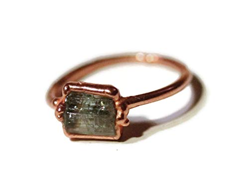 Electroformed copper tourmaline ring