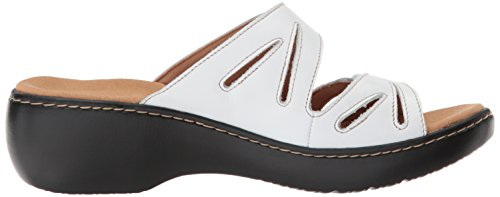 CLARKS Women's Delana Liri Platform White Leather free shipping Inexpensive low shipping fee for sale the cheapest cheap online discount collections largest supplier cheap online GKzG7bS