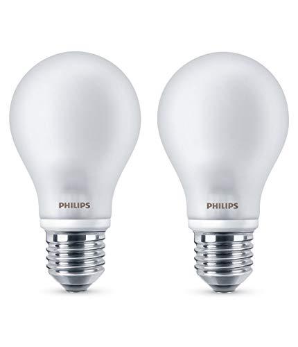Philips Lighting Bombilla LEDclassic E27, 40 W, Calida, Pack de 2, 2