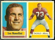 1957 Topps Regular (Football) Card# 6 Leo Nomellini of the San Francisco 49ers ExMt - Card Francisco Football San 49ers