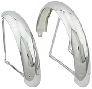 """NEW Bicycle Bike 16/"""" Twisted Fender Braces Chrome Replacement Part Lowrider"""