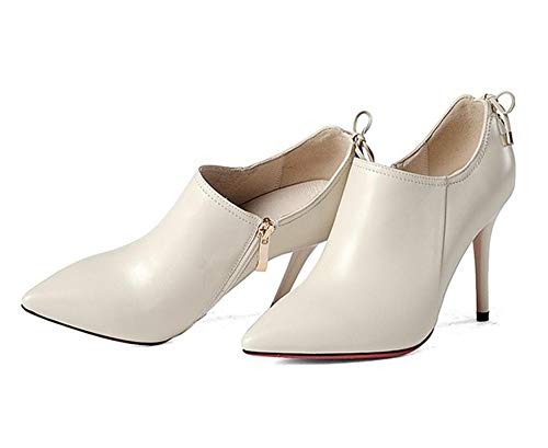 européennes Blanc Cuir Talons de et en Chaussures BFMEI Mode d'automne Chaussures Femme Profonds américaines qSxqTawOv