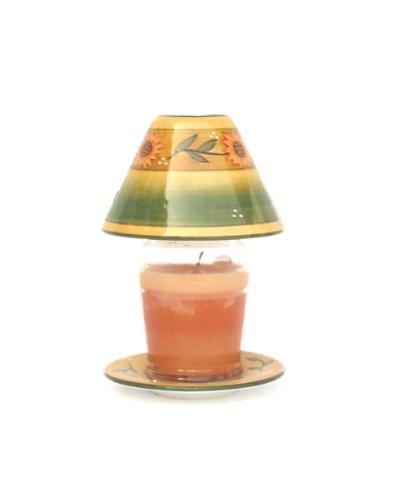 Sunflower Garden Ceramic, Candle Jar Holder 8 3/8