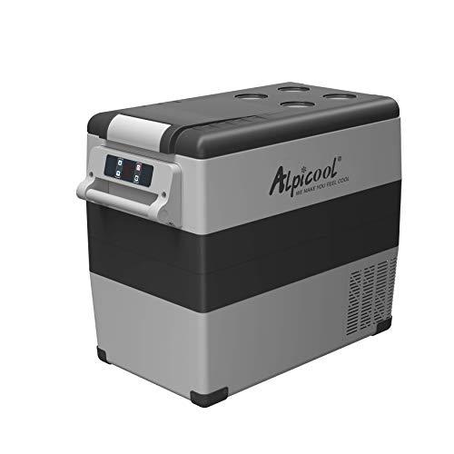 Alpicool CF55 Portable Refrigerator Freezer 58 Quart(55 Liter) Vehicle, Car, Truck, RV, Boat, Mini fridge freezer for Driving, Travel, Fishing, Outdoor use -12/24V DC
