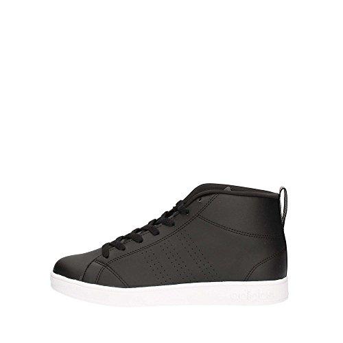 adidas Advantage CL Mid W, Zapatillas de Deporte Para Mujer Negro (Negbas / Negbas / Plamet)