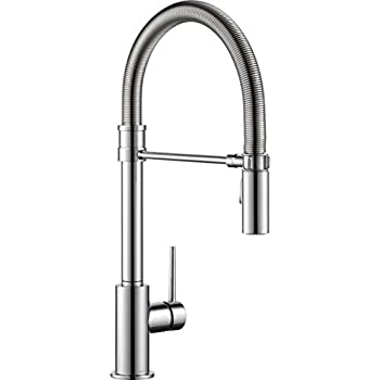 Delta Faucet 9659 DST Trinsic Pro Single Handle Pull Down Kitchen  with Spring
