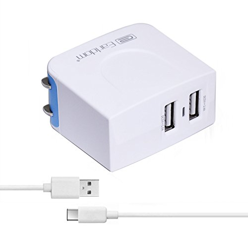 Motorola Moto Z / Z Droid / Z Play Droid / Z Force Droid Charger, Earldom 3.4A Dual Port Home Travel Wall Adapter with 3.3ft Type C to A Charging Cable Cord