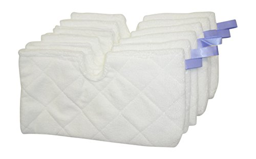 6 Pack Microfiber Steam Mop Pads for Shark S3501, S3601, S3801CO, S3901 Steam Mops Replaces P102W Designed & Engineered by Best Vacuum Filter