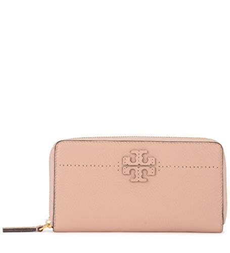 - Tory Burch McGraw Continental Zip Wallet in Devon Sand
