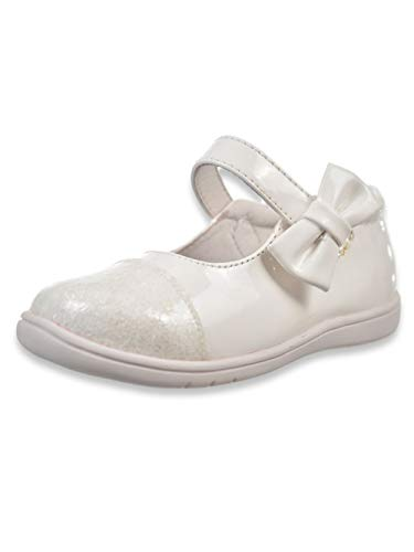 Texured Design - Mobility Baby Big Girls Walker Shoes - White, 6 Infant