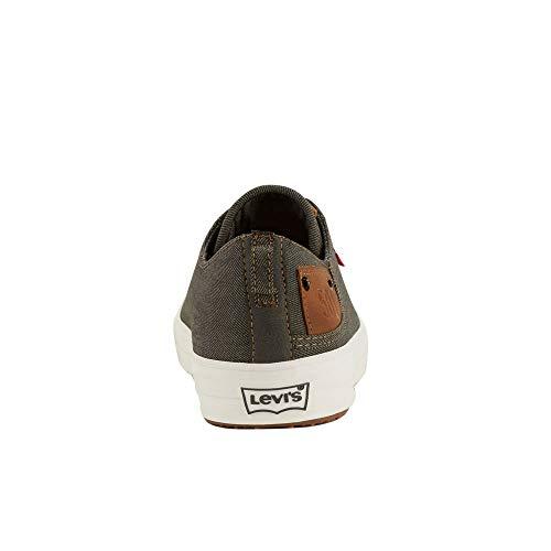 Levi's Mens Neil Lo 501 Denim Fashion Sneaker Shoe, Charcoal/Tan, 9.5 M