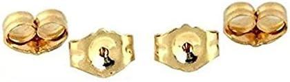 Goldchen 14K Yellow Gold Earring Backs Silver 4-Piece