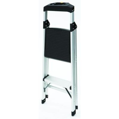 2-Step Aluminum Ultra-Light Step Stool Ladder with Project Tray Top and 225 lb. Capacity, ANSI Type 2 Duty Rating by Gorilla Ladders (Image #3)