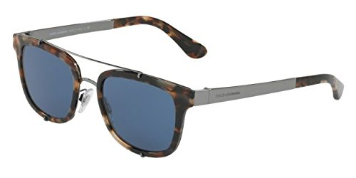 Dolce and Gabbana DG2175 314580 Blue Havana DG2175 Oval Sunglasses Lens - Sunglasses And Dolce Gabbana Blue