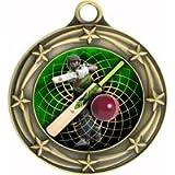 Engraved Cricket Medals (3-Pack)