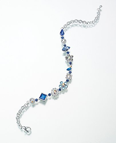 Lillian Rose Something Anklet, 10.5-Inch, Blue
