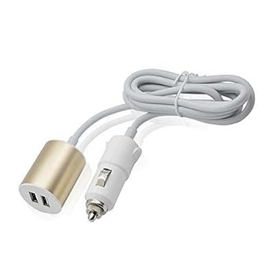 CABLE ALARGADOR MECHERO COCHE A 2 USB - 1,5 M