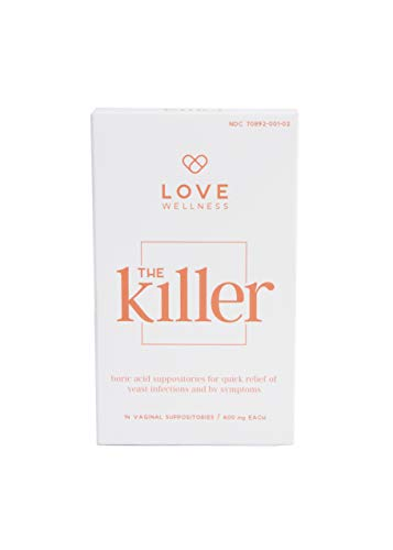 Love Wellness The Killer - Vaginal Boric Acid Suppository - Balance PH Levels