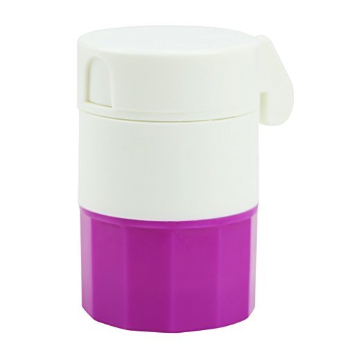 LING'S SHOP Pill Medicine Crusher Grinder Splitter Tablet Divider Cutter 4 Layer Storage Box (Purple)