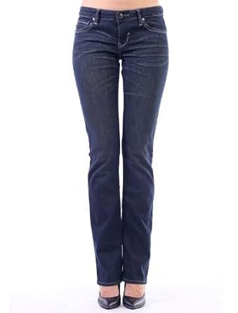 Stitch's Women's Stretch Comfort Denim Dark Wash Subtle Boot leg Jeans Blue SZ 26