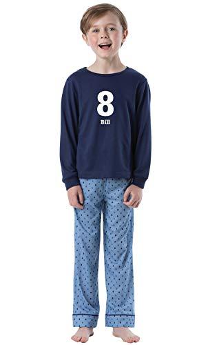 PajamaGram Big Boys Pajamas Set - Personalized 2 Piece Long Sleeve Boys PJs