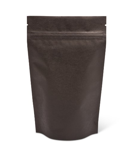 Pacific Bag 430-211B Stand-Up Pouch, 4 oz, Black Rice Paper with Zipper (Case of 500)