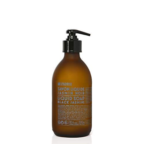 Compagnie de Provence Savon de Marseille Liquid Soap - Black Jasmine - 10 Fl Oz Glass Bottle