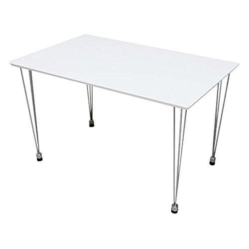 マナベインテリア 120cm巾 ダイニングテーブル PY ホワイト ダイニング 食卓テーブル 食堂テーブル 組立式 B0756TRGZV