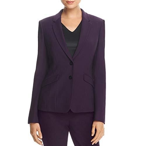 Hugo Boss Womens Jonalua Wool Suit Separate Two-Button Blazer Purple 2 (Women For Boss Hugo Suit)
