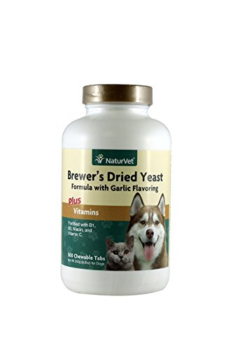 NaturVet Brewer's Yeast & Garlic Tablets, 500 Count