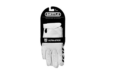 Battle Double Threat Football Gloves – Ultra-Tack Sticky Palm Receivers Gloves – Pro-Style Receiver Gloves, Adult and Youth