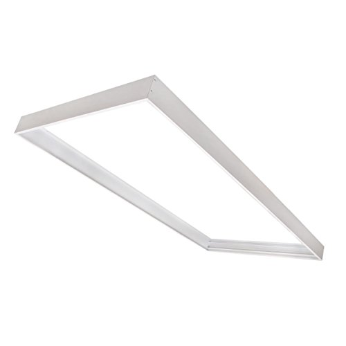 (Cost Less Lighting Surface Mount Kit for 2x4 LED Flat Panel Drop Ceiling Light - Edge-Lit Light Fixture)