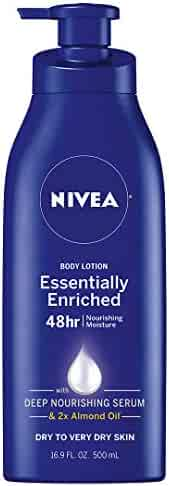 NIVEA Essentially Enriched Body Lotion - 48 Hour Moisture For Dry to Very Dry Skin - 16.9 fl. oz. Pump Bottle