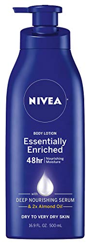 NIVEA Essentially Enriched Body Lotion - 48 Hour Moisture For Dry to Very Dry Skin - 16.9 oz. Pump Bottle (Best All Over Body Lotion)
