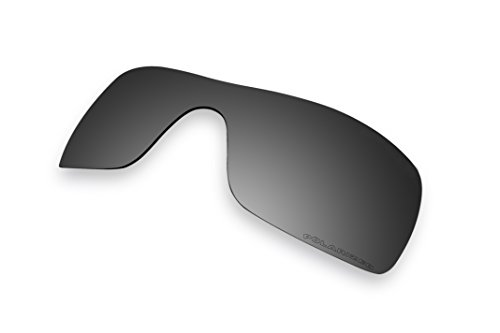 Sunglass Lenses Replacement Polarized for Oakley Batwolf Sunglasses (Black - Replacement Lenses Batwolf