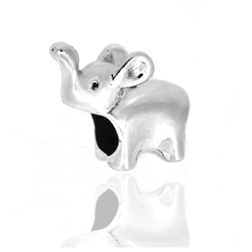 Lucky Baby Elephant Authentic 925 Sterling Silver Charm Bead Fits Pandora Chamilia Biagi Troll Charms Europen Style Bracelets